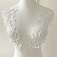 Vintage Venice Dress Patch Off-White Embroidery Floral Applique for Bridal Gown
