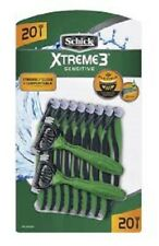 Schick Xtreme 3 Sensitive Disposable Razor, 20 Count (Unboxed)
