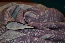 Japanese Silk Fabric Mauve with  White Wave Design 1147r