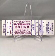 Mike Tyson VS James Tillis Heavyweight Boxing Match Full Ticket 1986