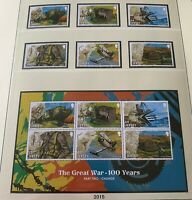JE38) Jersey 2015 WWI Centenary Part 2 Change set of 6 and Sheetlet MUH