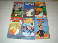 KIDS CLASSIC CARTOONS 6 TAPE LOT VHS RARE, OOP, HTF LOT # 1