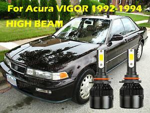 LED For Acura VIGOR 1992-1994 Headlight Kit 9005 HB3 White CREE Bulbs HIGH Beam
