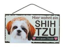 Shih Tzu Hunde Holzschild Türschild Tierschild Dog Wood Sign 25 cm