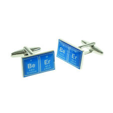 Blue Rectangular Periodic Table Beer Mens Gift For him Cufflinks