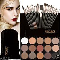 15 Colors Matte Eyeshadow Cream Makeup Eye Shadow Palette+20 PCS Makeup Brushes