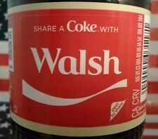 Share A Coke With Walsh 2018 Personalized Coca Cola Vanilla Bottle