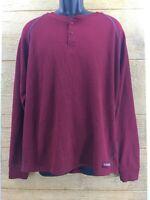 Realtree Mens Pullover ShirtSweater Burgundy Dark Red XL