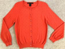 MARC BY MARC JACOBS ORANGE EMBROIDERED DOT CARDIGAN $198 M
