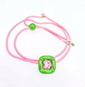New 100% Authentic SWAROVSKI Green Pink Crystal Dulcis necklace 5601585