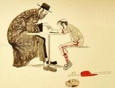 Original Painting ''HOMEWORK'' Signed by the American Artist  J. HERR