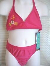 JANTZEN 2 Piece UPF 50 Bright Pink Swimsuit Bikini Bathing Suit Girls Sz 6 $48