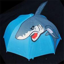 NEW Childrens Childs Kids Automatic Pop-Up 3D SHARK UMBRELLA - Rain Dress Ups
