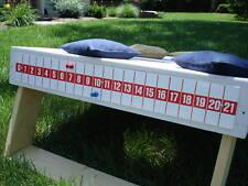 Cornhole Game Bean Bag Toss Scoreboard Red on White Made in USA