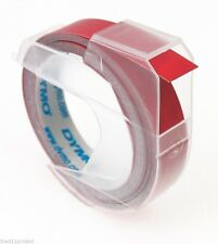 Dymo 3D Label Maker Embossing 3/8 (9mm) Refill Tape Organizer Xpress Caption RED