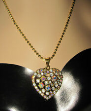 With Bling Necklace Betsey Johnson Goldtone Heart