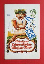 Reklame AK MÜNCHEN Münchener LÖWENBRÄU Märzen-Bier   ( 35201