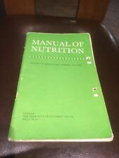 1968 Manual Of Nutrition By Ministry Of Agriculture, Fisheries And Food