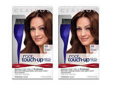 (2) Packs Clairol Root Touch-Up Permanent Hair Color Creme, 4R Dark Auburn