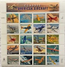 US Sheet 32¢ Stamps (20) CLASSIC AMERICAN AIRCRAFT c 1996  MNH #3142 *