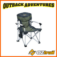 OZTRAIL ROYALE HARD ARM CAMPING CHAIR ARM CHAIR LIGHTWEIGHT STRONG STEEL FRAME