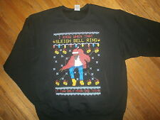 DRAKE SLEIGH BELLS RING MEAN 1 THING HOLIDAY SWEATSHIRT Ugly Christmas Sweater L