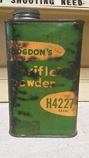 Nodgdons Rifle Powder Tin H4227 Brand ~ Empty Tin ~ 56 Year Collection