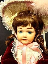 "Kathleen Watt '88 French BRU Repro Brunette 25"" Full Body Jointed Porcelain Doll"