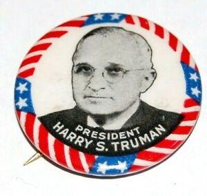 1948 HARRY TRUMAN campaign pin pinback button political presidential election