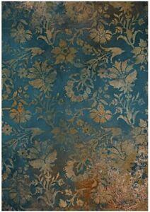 Reispapier-Motiv Strohseide-Decoupage-Vintage-Shabby-Rost-Patina-19121