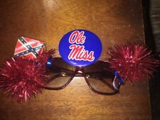 Ole Miss Rebels Col. Reb Sunglasses Festive Wear Made In Senatobia MS
