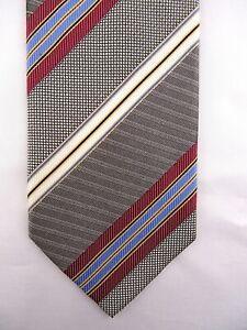 NEU - Krawatte von SEIDENFALTER, 100% Seide, Grau Bordeaux Blau Beige