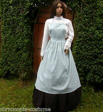 Ladies Victorian /  American civil war pinner apron costume fancy dress