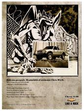 1999 CHEVROLET S-10 Vintage Original Print AD Gargoyle art by Chris Wirth Checy