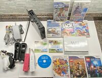 Nintendo RVL001 Wii Black GameCube Compatible Console 9 Game Wii Sports WWE Lego