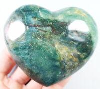 407g  Amazing Ocean Jasper Crystal Agate Geode Heart Jasper Reiki Stone