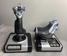 Logitech Saitek x52 HOTAS Flight Control System Joystick & Throttle Ships FREE!