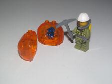Lego ® City Minifig Figurine Explorateur Volcan + Rocher + Picohe NEW