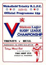 Wakefield Trinity V Hull FC 1980/1 (8) APR