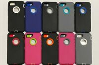 For Apple iPhone 8 7 6s Plus Case Hybrid Armor Shockproof Rubber Cover +Screen