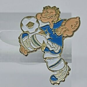 Popeye The Sailor Man Playing Soccer Enamel Badge