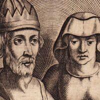 Portrait XVIIe Louis Ier D'Anjou Roi De Naples & Jérusalem Luigi I d'Angiò