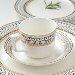 Ceramic coffee cup set INS style bone China afternoon tea cup with saucer  220ML