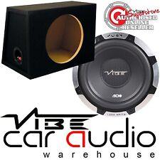 "VIBE SLICK S10 - 1050 Watts 10"" Inch 25cm Car Sub Bass Subwoofer & MDF Bass Box"