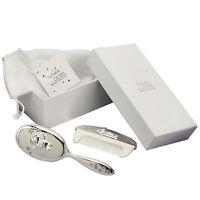 Silver Plated Brush & Comb Set Twinkle Twinkle Christening Gift Keepsake