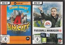 Sim City 4 Deluxe Edition & ADDON Rush Hour + Fußball Manager 2010 FM 10 EA PC