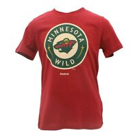 Minnesota Wild Reebok Official NHL Apparel Kids Youth Size T-Shirt New with Tags