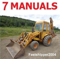 7 CASE 580B 35 LOADER BACKHOE SERVICE MANUALS SHOP REPAIR OWNERS PARTS TRACTORS