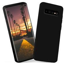 Custodia Cover Case Matt per Samsung S10 S10e e Plus Silicone Nera Anti-Impronta