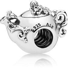 New Authentic Pandora Charm Enchanted Teapot 797065CZ W Suede Pouch